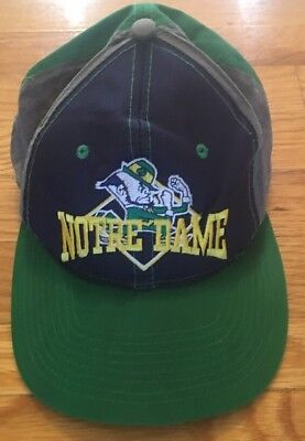 Vintage Rare NCAA The Game Notre Dame Fighting Irish Snapback Baseball Hat Cap