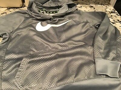 boys Nike hoodie great pre-owned cond. silver