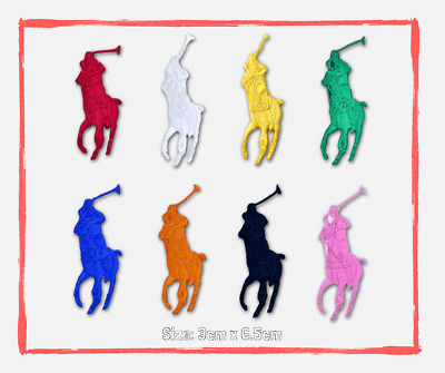 Sports badges logo colourful horse polo Sew on Iron on Embroidered Patch