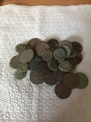 Lot Of 50 Uncleaned Medieval/Ancient Coins