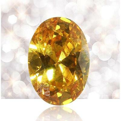 ¡Limpio!1,80ct 10x14mm VVS zafiro oval natural medio amarillo, Tailandia OE