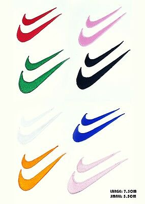 Nike Embroidered Iron on Sew on Patch Badge Logo Sports