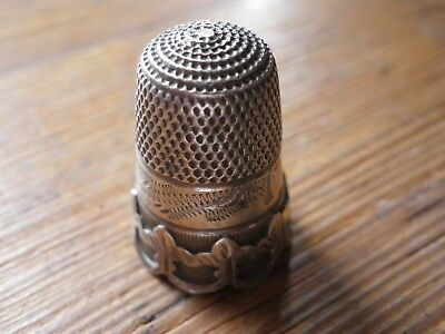 Antique Solid Silver Victorian Thimble