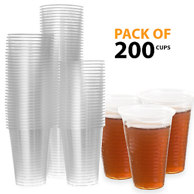 500 X 0.3L Disposable Clear Plastic Glasses Cold Water Tumbler Drink Party Pack