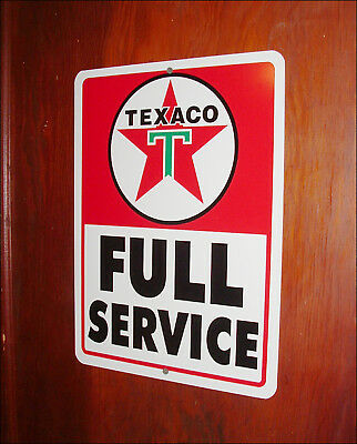 Texaco Full Service Metal Advertising Sign ~Nice Clean Addition To Your Man-Cave