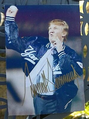 Donald Trump Autographed 3X5 Photo