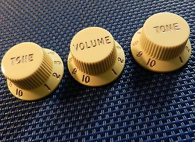 Fender American Professional Strat GUITAR KNOBS Volume Tone Stratocaster Aged