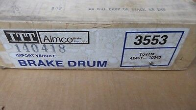 Brand New Aimco Rear Brake Drum 3553 / 122.44005 Fits Vehicles Listed On Chart