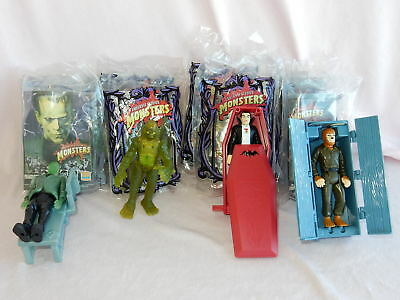 Three Full Sets of Burger King Universal Monsters Toy Premiums