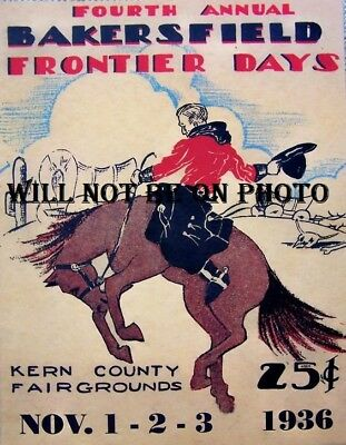 California Rodeo Poster Vintage Cowboy Horse Western Picture Photo Art Old West