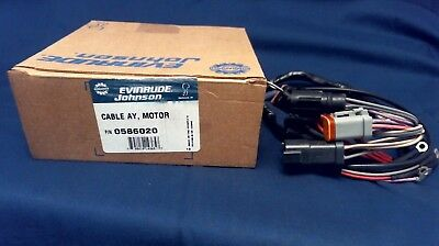 Nos Johnson Evinrude Omc 586020 Motor Cable Assembly