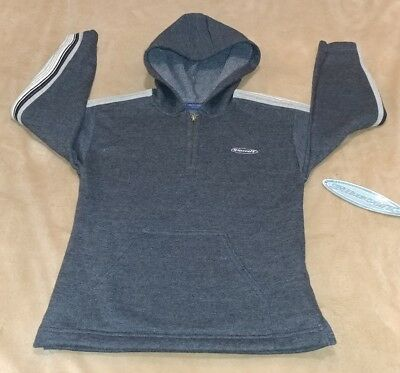 New!! Sideout Youth Large Pullover 1/4 Zip Hoodie Gray Soft Nwt!
