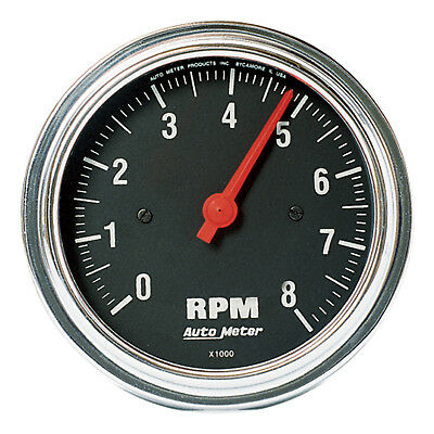 Autometer 2499 Traditional Chrome Tachometer gauge,  3-3/8 in., Electrical