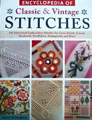 Encyclopedia Of Classic & Vintage Stitches  Embroidery, Crewel, Cross Stitch, +