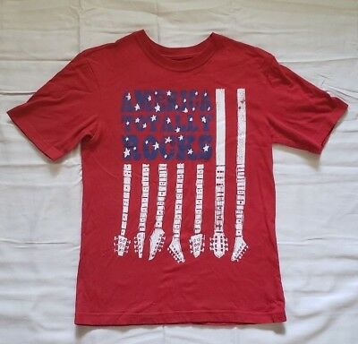 """the Children's Place America Rocks Short Sleeve T-Shirt"" -Size Large (10/12)"