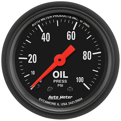 Autometer 2604 Z-Series Oil Pressure Gauge, 2-1/16 in., Mechanical