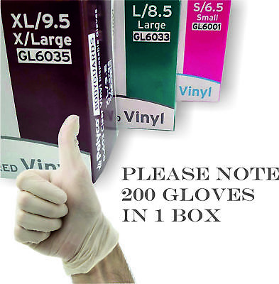 POLYCO Vinyl Disposable Gloves Powder free No Latex Clear Medical Cleaning Food