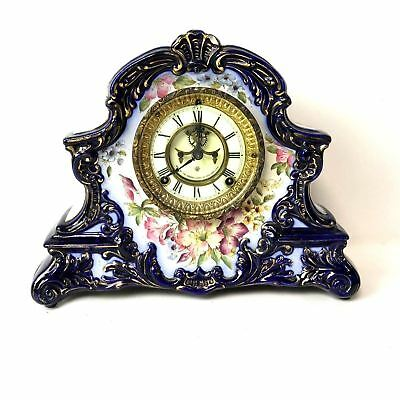 Ansonia Clock Co., New York, Peconic 8 Day, Time and Strike Porcelain Case