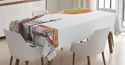 Park Bench Tablecloth by Ambesonne 3 Sizes Rectangular Table Cover Decor