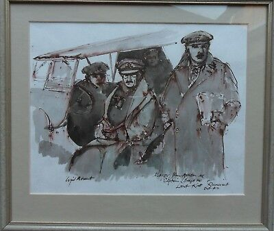 Cyril Mount 1920-2013 Original Signed Painting Army At Ruweisat El Alamein 1942