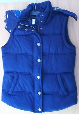 Cosy navy hooded bodywarmer jacket from Johnnie B - Boden 11-12 years