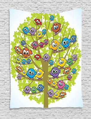 Funny Nursery Tapestry Wall Hanging Art Decoration for Room 2 Sizes Ambesonne