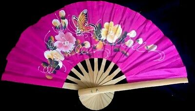 Hand painted Thai Wooden Fan