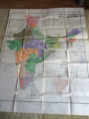 Railway Map Of India 1986