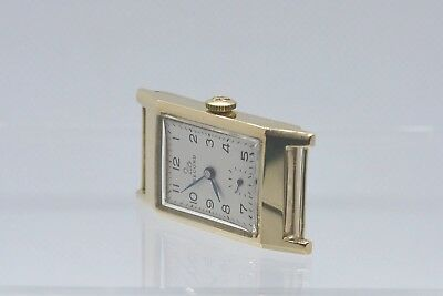 RECORD Vintage - Art Deco style - Men's watch. Solid Gold (9K - 375). Swiss Made