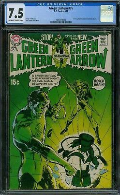 Green Lantern 76 CGC 7.5 - OW/W Pages