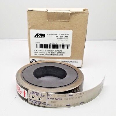 New Zook Enterprises Cf164116 Graphite Rupture Disk 2""