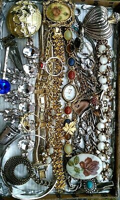 Huge Vintage & Now Jewelry Lot Estate Find Junk Drawer UNSEARCHED UNTESTED #BEST