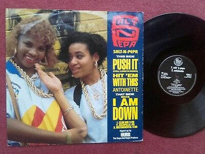 "Salt 'n' Pepa ""Push It""  Full Length Remix  12"" Picture Single. 1988"