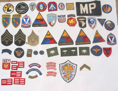 WW II earlier & later patches lot group