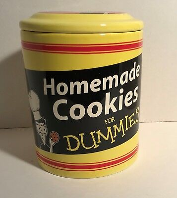 """Vintage Cookie Jar for """"Dummies"""" – Bright Yellow – New in Original Box"""