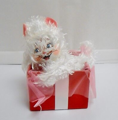 """Annalee """"Gift Box Kitty"""" 8"""" h Style #101013 Issued 2013"""
