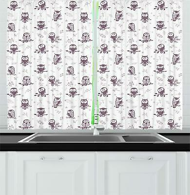 "Modern Contemporary Kitchen Curtains 2 Panel Set Window Drapes 55"" X 39"""