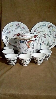 Antique Chinese famille rose butterflies porcelain