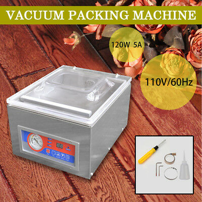 120W Digital Vacuum Packing Sealing Machine Sealer Food Industrial Packaging HQ