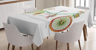 Vivid Romantic Tablecloth by Ambesonne 3 Sizes Rectangular Table Cover Decor