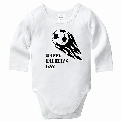Soccer Happy First Fathers Day, Babygrow, Bodysuit, Romper, Baby