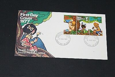 New Zealand  1977 Health Set Of 3 On First Day Cover