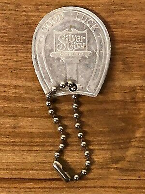Silver City Casino Las Vegas Advertising Promo Horseshoe Good Luck Keychain