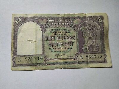 India 10 Rupees Rare Currency Banknote