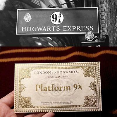 1 Pcs Harry Potter Hogwarts London Express Replica Train Ticket