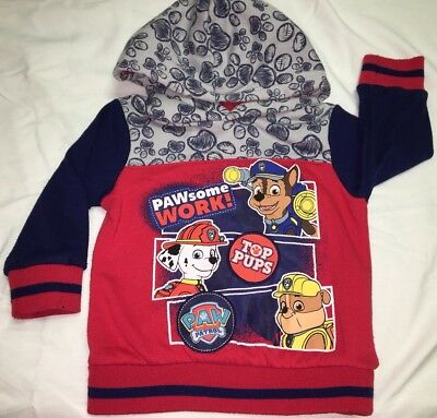Paw Patrol Hooded Sweat Shirt 2T Marshall Chase Rubble