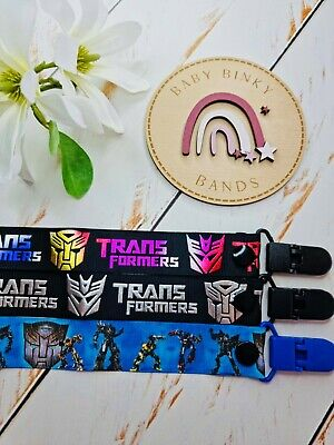 TRANSFORMERS Dummy Clip/Pacifier Chain/Binky Band/Soother Baby Boy/Girl