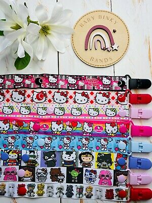 HELLO KITTY Dummy Clip/Pacifier Chain/Binky Band/Soother Baby Boy/Girl