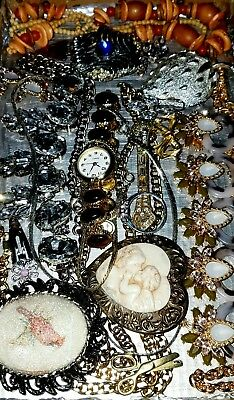 Huge Vintage & Now Jewelry Lot Estate Find Junk Drawer UNSEARCHED UNTESTED#40's
