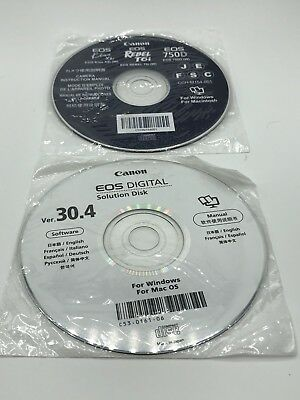 Canon Rebel T6i CD Manual + Canon EOS Solutions Disk NEW